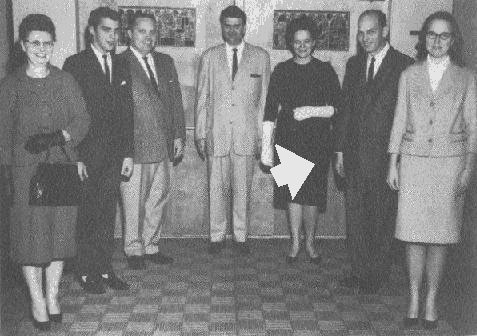 Bro. Ernie Haynes, with other Sunday school receptionists