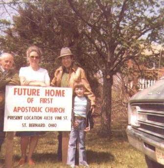 New site for the First Apostolic Church with Brother Jack and Sister Shirley Wilson, with their son James